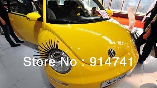 OPP-Pack-3D-font-b-Car-b-font-Charming-Black-False-Eyelashes-Sticker-font-b-Car_s