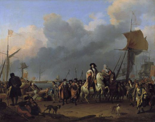 The_arrival_of_King-Stadholder_Willem_III_(1650-_1702)_in_the_Oranjepolder_on_31_January_1691_s