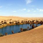 【蜃気楼】広大な砂漠の小さなオアシス画像集【恵みの泉】