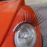 車のヘッドライトにまつげをつけたら・・・超かわいい画像集